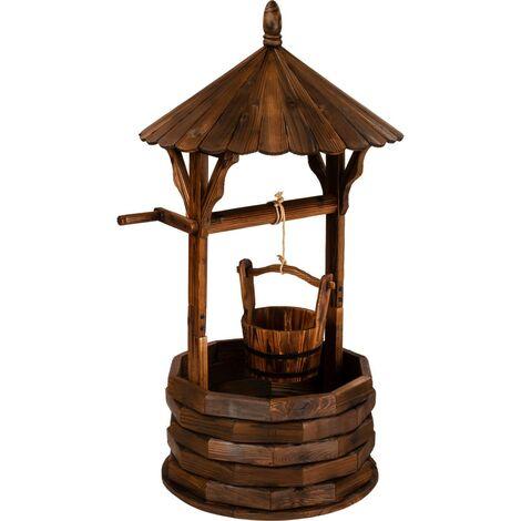 Fontaine de jardin STILISTA® Puits en bois, H120 cm