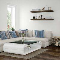 Étagère murale STILISTA® Volato, étagère flottante, longueur 30 cm, épaisseur 3,8cm, testée sans substances nocives, couleur décor bois-blanc rustique