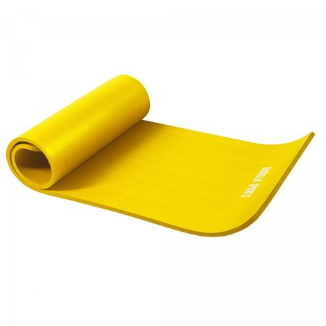 Tapis en mousse petit 190x60x1,5cm (Yoga - Pilates - sport à domicle) - Couleur : JAUNE
