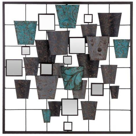 Déco murale formes géométriques trapèzes Atmosphera - Noir
