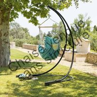 Chaise suspendue détente Cuenca jade Hespéride - Emeraude