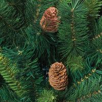 Sapin de Noël 150 cm vert MAJESTIC avec pommes de pin - Vert