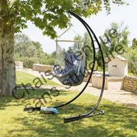 Chaise suspendue détente Cuenca perle Hespéride - Gris clair