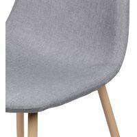 Chaise scandinave Oslo en tissu gris clair - Gris clair