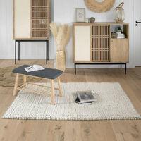 Tapis Mix laine et coton 120x170 Atmosphera - Naturel clair