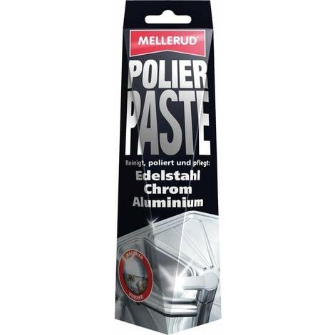 Mellerud Polierpaste für Edelstahl Chrom Aluminium 150ml reinigt & pflegt