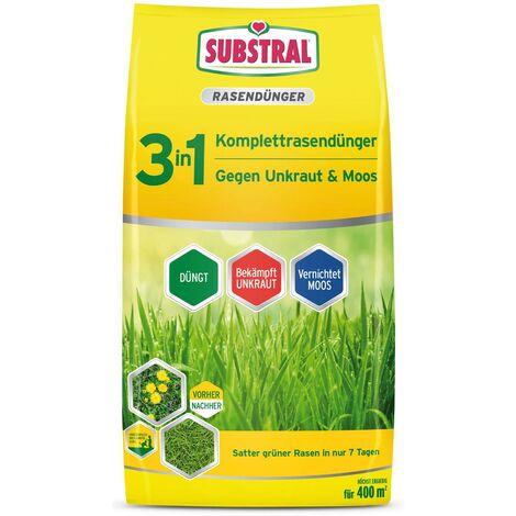 Substral 3in1 Komplettrasendünger gegen Unkraut & Moos 14 kg für 400 m²