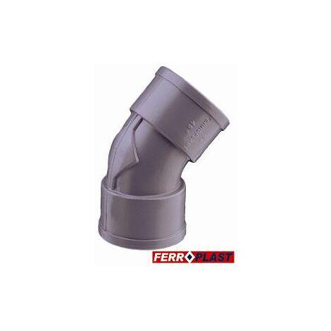 Codo Pvc Gris H-h 45� 40mm. 205023