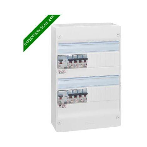 Legrand 093055 Essentiel Spécial Tableau Électrique Équipé pour Logement T1 ou T2, Blanc