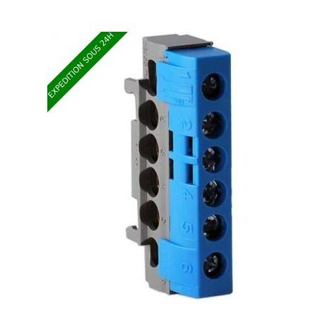 LEGRAND Drivia Bornier Neutre, bornier de raccordement bleu 62mm - 004815