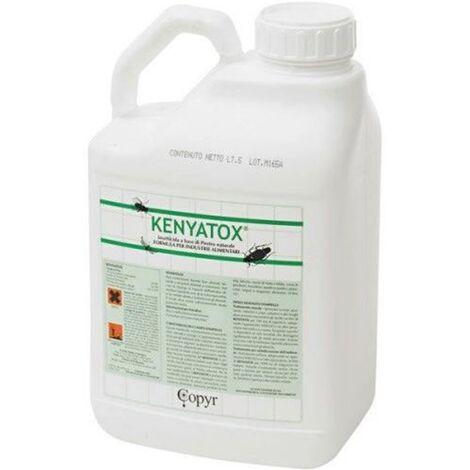 LT. 25 KENYATOX A.I. INSETTICIDA AL PIRETRO NATURALE CUCINE MENSE E INDUSTRIA