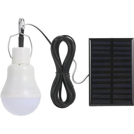 bombilla LED solar portatil de emergencia al aire libre con el panel solar 800mA capacidad de la bateria IP44 SMD2835 impermeable,tipo 1,Con gancho