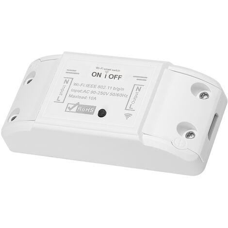 Tuya WiFi Smart Switch, 10A 2200W Wireless / interruptor remoto del temporizador de control APP, Domotica modulo de automatizacion