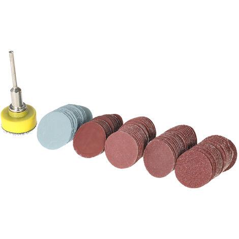 """Disco de lijadora, con placa de almohadilla de pulido abrasivo de 1 pulgada + herramienta giratoria de mango de 1/8 """""""