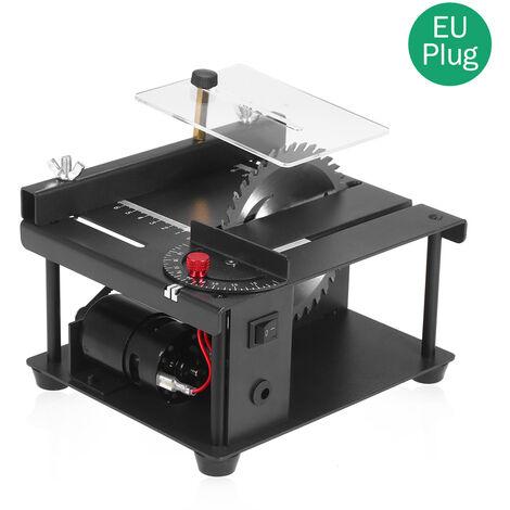Sierra de mesa multifuncional, cortadora electrica, con muela abrasiva de hoja de sierra,Negro, enchufe de la UE