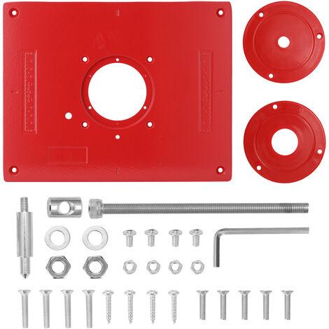 Mesa de fresado multifuncional de aleacion de aluminio, herramientas para trabajar la madera,rojo