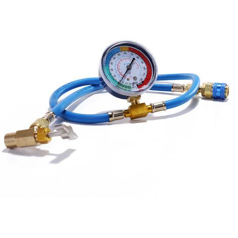 Kit de manometro de medicion de recarga de refrigerante de aire acondicionado automatico AC R134A