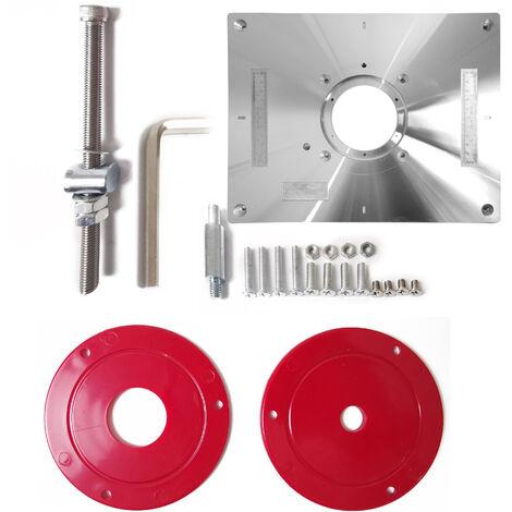 Mesa de enrutador de aleacion de aluminio multifuncional, maquina herramienta de grabado con recortadora de placa de insercion
