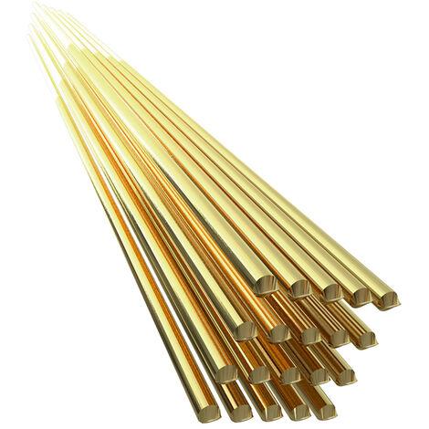 Electrodo de alambre de soldadura de laton, varilla de soldadura de 1,6 mm * 250 mm, sin necesidad de polvo de soldadura,20