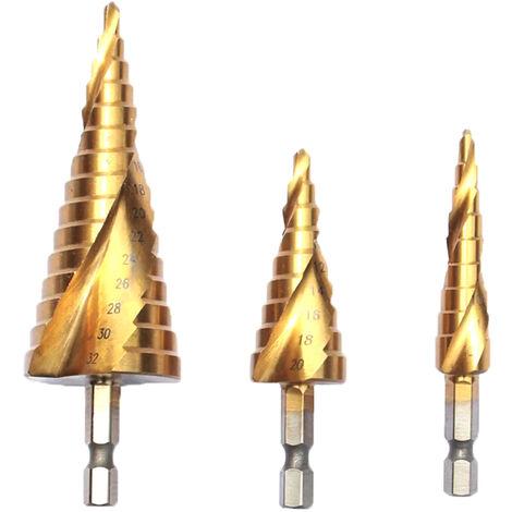 Sistema acanalado espiral de la broca del paso, agujero de perforacion plastico del metal de madera