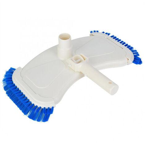 Aspirador curvo para piscina, cepillos laterales para aspiradora