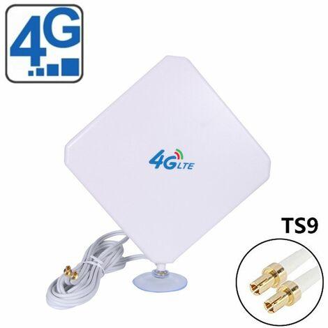 35dBi 4G LTE Dual MIMO Antena de telefono movil Amplificador de antena TS9 Cable de enchufe