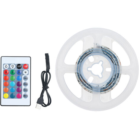 Kit de tiras de luces LED, tira de luces a prueba de agua,Blanco, 0.5