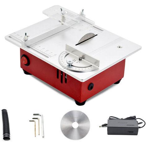 Mini sierra de mesa multifuncional T30, sierras electricas de escritorio, con altura de elevacion de la hoja de sierra de 0-14 mm
