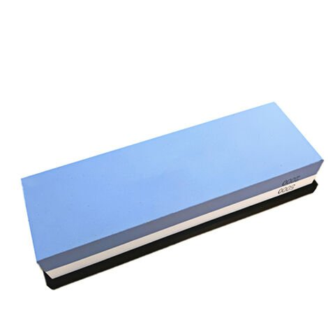 Piedra de afilar, con base de silicona antideslizante, grano doble 2000/5000, piedra de afilar, piedra de afilar, afilador de cuchillos