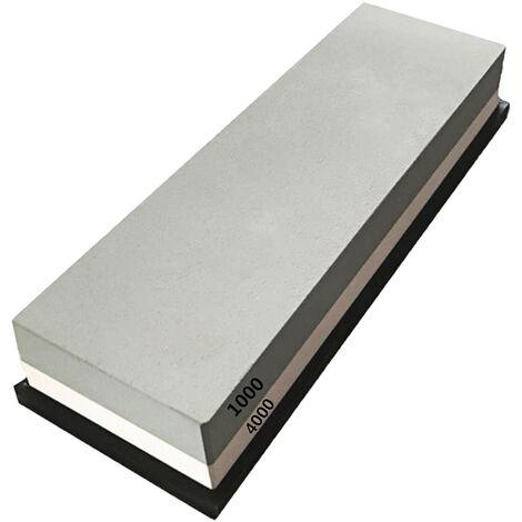 Piedra de afilar, con base de silicona antideslizante, grano doble 1000/4000, piedra de afilar, piedra de afilar, afilador de cuchillos