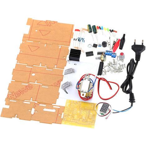LM317 1.25V-12V Kit de bricolaje de fuente de alimentacion de voltaje regulado continuamente ajustable, UE