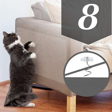 Funda protectora para sofa de gato, cinta transparente resistente a los aranazos de doble cara, funda protectora para muebles