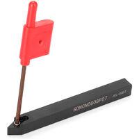 8mm 7-piezas conjunto de herramientas de torneado alta dureza de metal torno CNC herramienta de fresado con hoja de la llave con
