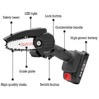 Sierra de podar electrica portatil HiLDA, pequena motosierra para cortar madera