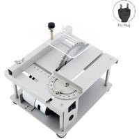 Sierra de mesa multifuncional 150W, mini cortadora de sierra de escritorio
