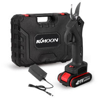 Tijera de podar electrica inalambrica 21V, cortador eficiente de las ramas de la poda de los bonsais del arbol frutal,Negro, enchufe de la UE