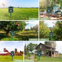 Repelente solar ultrasonico de plagas Repelente de animales al aire libre, con sensor de movimiento de sonido ultrasonico y luz intermitente