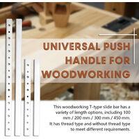 Barra deslizante tipo T para carpinteria, accesorios de bricolaje, bloque fijo deslizante, control deslizante tipo T universal,200 mm sin rosca