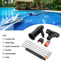 Aspirador de piscina, herramienta de limpieza desmontable portatil