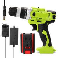 Taladro inalambrico electrico multifuncional de 21 V, taladros manuales recargables inalambricos con bateria de litio de alta potencia