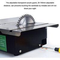 Mini sierra de mesa multifuncional, angulo ajustable