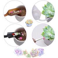 Mini herramientas de mano de jardin de 13 piezas, juego de herramientas de plantacion en miniatura suculentas de Bonsai,Verde