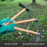 Rastrillo para herramientas agricolas con mango de madera,Herramientas de plantacion,herramienta de deshierbe del jardin,Multicolor, 7