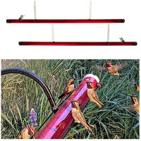 Alimentador de colibri, con manguera de alimentacion de orificio,Rojo, 40 cm