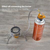 Cocina de camping gas de recarga Adaptador quemador, Botella GLP plana del cilindro del tanque adaptador de acoplamiento del conjunto protegido de la valvula inflable
