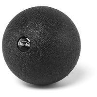 Bola de masaje de cacahuete, bola de masaje esferica, equipo de yoga para ejercicios con rodillos,Bola pequena redonda-negra