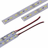 12 V debajo de las luces de tira del gabinete, luz de tira interior del LED, cubierta lechosa rigida del tubo de las barras duras,20cm 1 piezas
