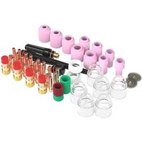 71 piezas rechoncho lente de Gas vasos de vidrio juntas toricas pinzas Kit de boquillas de Gas para antorcha de soldadura TIG WP-17/18/26