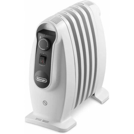 De'Longhi Radiador De Aceite NANO TRNS0505M. Calefactor Eléctrico Portátil Silencioso. Termostato. Mejor Uso Energía. 500 W