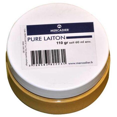 Métallisation à froid Mercadier (PURE® Métal) - Finition Laiton - 60 ml jusqu'à 0,3 m²